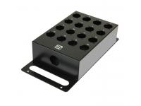Adam hall 87254 16 Chanel stagebox, vazio, aço, acabamento estruturado revestimento do pó preto com números brancos. Perfurado para tomadas XLR universais.    De escoamento: Furo 29 mm para PG21 / ...