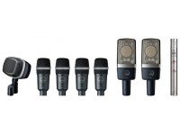 AKG Drum Set Premium Conjunto de microfone para bateriaAKG Drum Set Premium, Conjunto de Microfone para tambores para Studio e aplicação ao vivo Conjunto é composto por 4 x D40