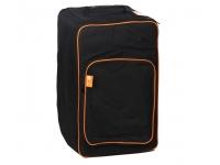 Ashton Saco Cajon Standard Zíper duplo    Aro de laranja    Material: nylon sem acolchoado    Alça simples no topo    Cor preto