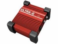 Behringer DI GI100 caixa de injeção de utilização profissional para ligação da guitarra elétrica diretamente à mesa de mistura sem a necessidade de amplificador independente;