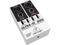 Behringer DI20 D.I. Box Behringer DI20. Controladores: Ground Lift; Mode (Link, 2 Chn); Ground; Baterry. Alimentação: Alimentador (não incluído), Pilhas (não incluído).