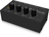 Behringer Micro-misturador MX400-EU micro-misturador de reduzidas dimensões e grande utilidade para adição a estúdios ou a setups de atuações ao vivo; quatro entradas de áudio Jack em sinal de linha; reguladores individua...