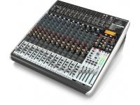 Behringer QX2442USB Misturador analógico premium de alto nível de ruído ultra alto  10 pré-amplificadores de microfone XENYX de última geração comparáveis aos pré-amplificadores de lojas autôno...