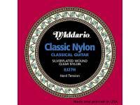D´Addario EJ27H D'Addario Student EJ27H Nylon, Hard Tension: Nylon cordas D'Addario clássico EJ27H para guitarra clássica, com uma tensão contínua. Cordas para iniciantes.