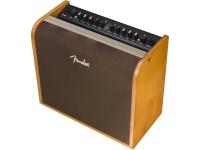 Fender Acoustic 200 O amplificador Fender Acoustic 200 fornece um timbre cheio e natural para guitarras elétricas e acústicas e microfone. A sua estrutura de madeira especialmente projetada completa a forma e v...