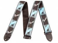 Fender Monogrammed Strap, Black Light Blue Grey Blue Especificações:   A Fender é a maior fabricante de guitarras, baixos e equipamentos relacionados do mundo. Com uma brilhante história datando de 1946, a Fender tem tocado e transform...