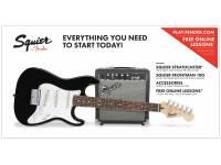 Guitarra Elétrica Fender Squier Strat Pack SS Black