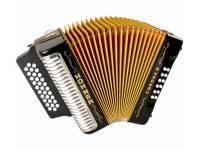 Hohner Corona III GCF Preto   A Hohner Corona III GCF Preto é a concertina de 3 vozes ideal para o músico profissional que pretende qualidade, som e durabilidade.    O som de assinatura para o Vallenato ou...
