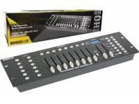 HQ Power VDPC145 Principais Características:  - Controlador c/ 192 Canais DMX que pode controlar até 12 aparelhos, 30 bancos de memóriaque contém até 240 cenas, 8 cenas por banco  - Alimentação: 9...