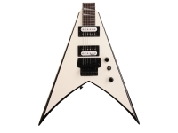 Jackson King V JS32 Electric Guitar, White w/Black Bevels