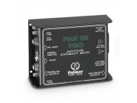 Palmer PAN 02 PRO Palmer PAN 02 PRO  Caixa Mono DI ativa  Entradas: tomada de 6,3 mm e fêmea XLR  Saída jack paralela de 6,3 mm  Saída macho XLR  Interruptor de almofada (-10 dB / -20 dB / -30...