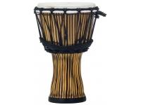"""Pearl PBJVR-7/698 A série Djembe inclui quatro tambores de tamanho; 7 """", 10"""", 12 """"e 14"""". As conchas sintéticas sem costura estão disponíveis em dois acabamentos dinâmicos Zebra Grass e Molten Scarl..."""