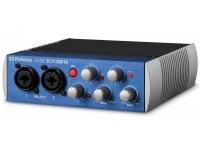Presonus AudioBox USB 96 Características    2 canais de entrada de painel frontal de duplo propósito, cada um com pré-amplificadores de microfone de alta qualidade  2 entradas combinadas de microfone / i...
