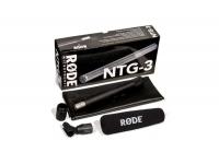 Rode NTG-3  Rode NTG3    Padrão polar: super-cardióide    Faixa de freqüência: 40 - 20.000 Hz    Faixa dinâmica: 117 dB    Nível máximo de pressão sonor...