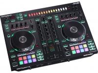 Roland DJ-505 O Roland DJ-505 é um controlador de Serato DJ de dois canais e quatro decks que combina as avançadas capacidades de performance do Serato DJ com os sons lendári