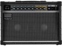 """Roland JC-40 O JC-40 Jazz Chorus conta com o famoso timbre """"JC Clean"""" da Roland e o efeito de assinatura chorus estéreo num amplificador combo compacto com recursos atualizados para o guitarrista mode..."""