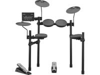 Yamaha DTX402K Mesmo no início de sua jornada, existem ferramentas que irão ajudá-lo a ter sucesso como um baterista. O módulo DTX vem com 10 funções de treinamento interno para ajudar a melhorar suas ...