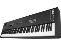 Yamaha MX88 O MX88 possui uma ação ponderada Graded Hammer Standard (GHS). A ação ponderada do GHS tem uma resposta mais pesada nas teclas baixas e uma resposta