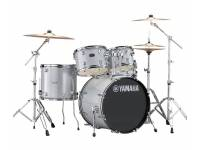 "Yamaha Rydeen Studio Silver Glitter Pack de 5-peças: bombo de 20""x16"" + timbalão de chão de 14""x13"" + timbalão de 12""x8"" + timbalão de 10""x7"" + tarola de 14""x5.5"" + 2 * clamp´s de timbalão CL940LB; ..."