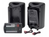 Yamaha STAGEPAS 600BT Yamaha STAGEPAS 600BT é um sistema de PA portátil de 680 watts com mixer de 10 canais, dois alto-falantes de 10